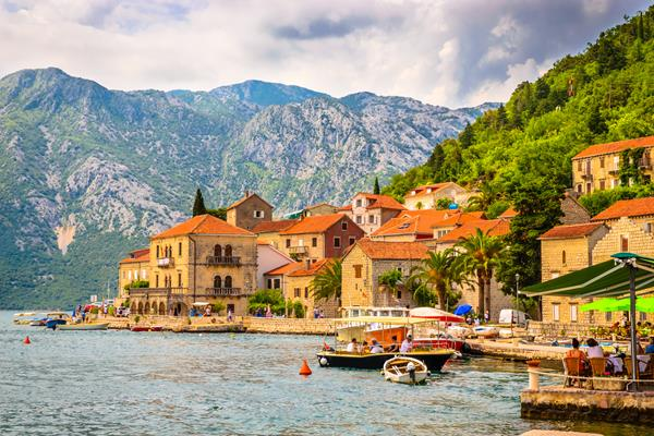 Perast Town From Kotor Port